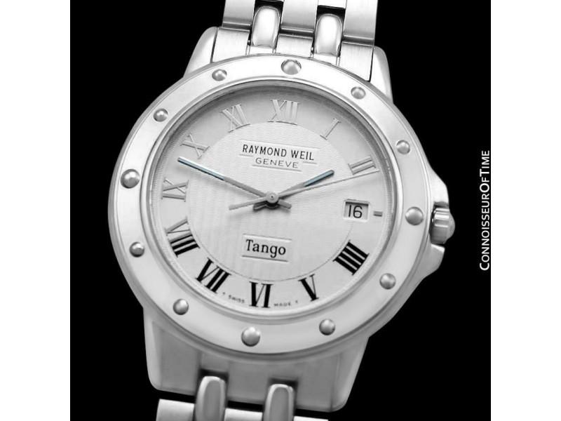 RAYMOND WEIL TANGO Mens Ref. 5560 Stainless Steel Watch - Mint with Warranty