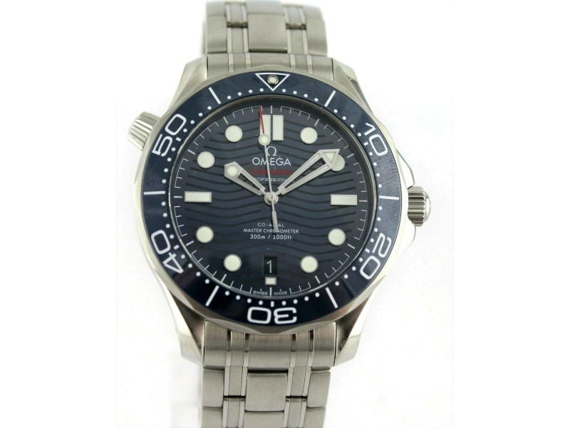 OMEGA SEAMASTER 210.30.42.20.03.001 AUTOMATIC CO AXIAL MEN'S BLUE LARGE WATCH