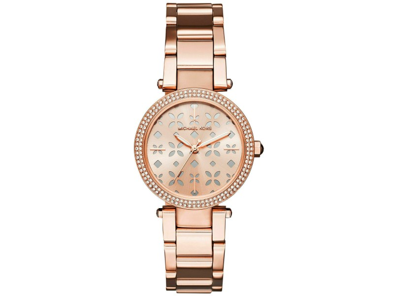 BRAND NEW MICHAEL KORS MINI PARKER MK6470 ROSE GOLD LADIES 33MM QUARTZ WATCH