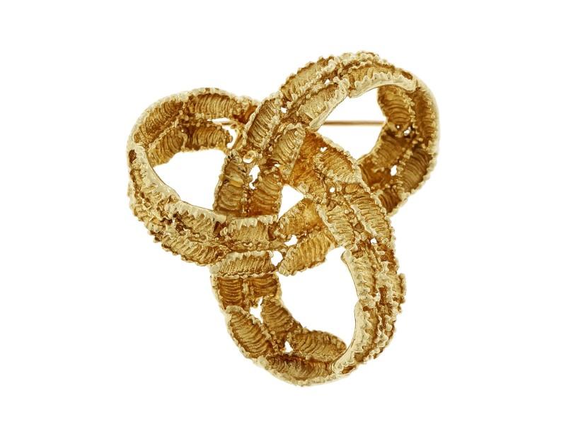 Tiffany & Co. 18K Yellow Gold Infinity Knot Pin Brooch