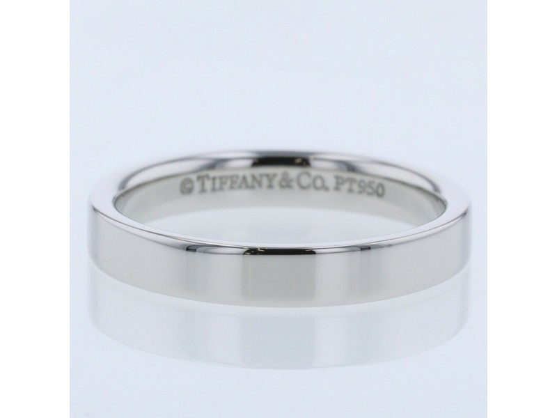 TIFFANY & Co. Platinum Flat band Ring