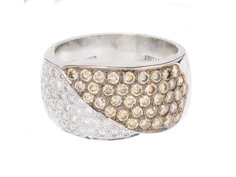 Levian 14K White Gold Chocolate Brown Diamond Ring Size 9