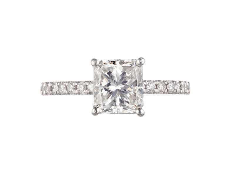 Peter Suchy EGL Certified 1.61 Carat Diamond Platinum Engagement Ring
