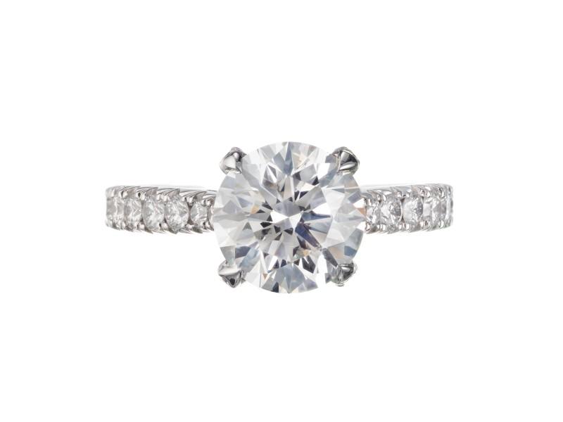 Peter Suchy GIA Certified 2.07 Carat Diamond Platinum Engagement Ring