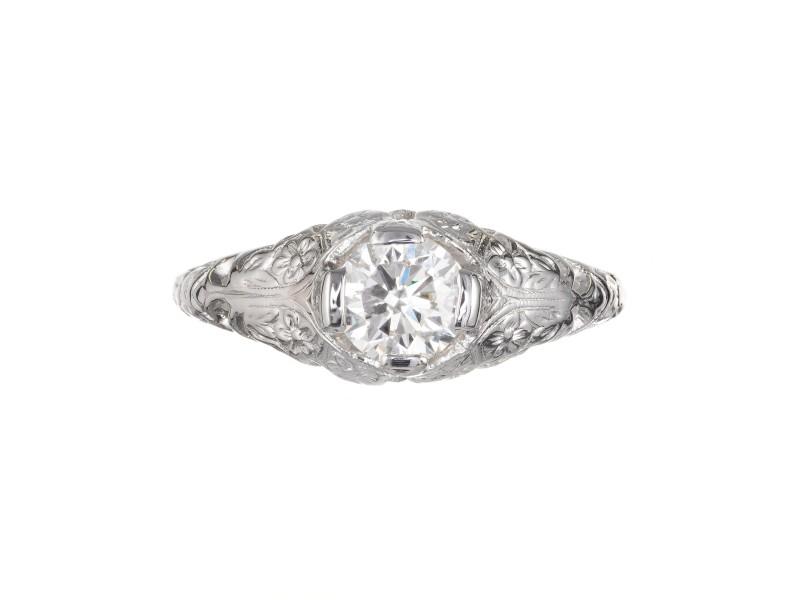 EGL Certified .56 Carat Diamond Platinum Engagement Ring