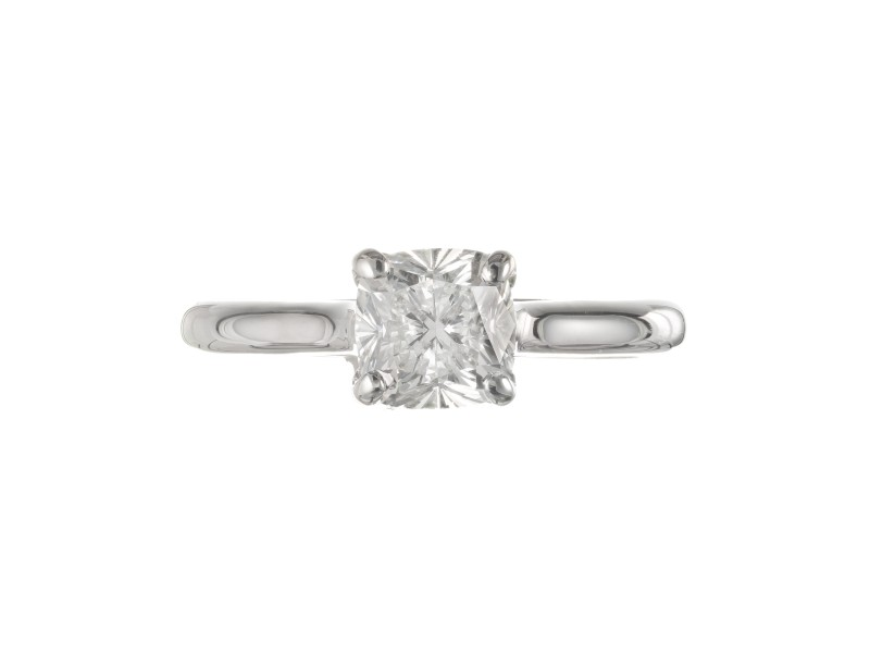 GIA Certified 1.10 Carat Diamond White Gold Engagement Ring
