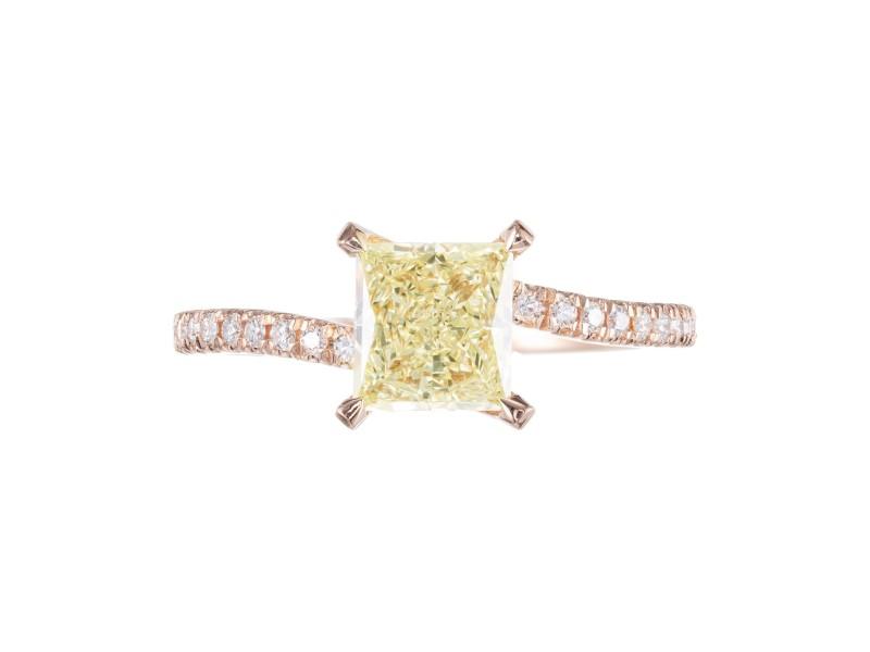 Peter Suchy GIA Certified 1.08 Carat Diamond Rose Gold Engagement Ring