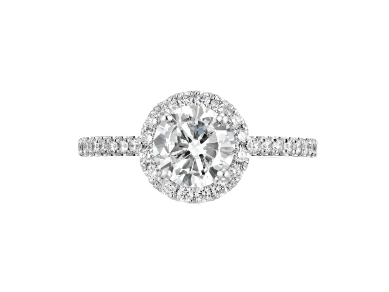 Peter Suchy GIA Certified 1.11 Carat Diamond Platinum Solitaire Engagement Ring