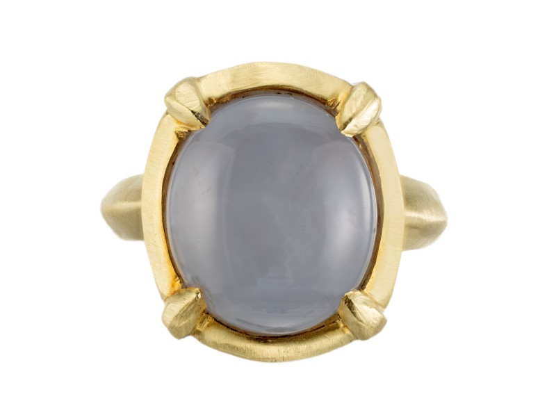 Robin Rotenier 10.00 Carat Star Sapphire Yellow Gold Cocktail Ring