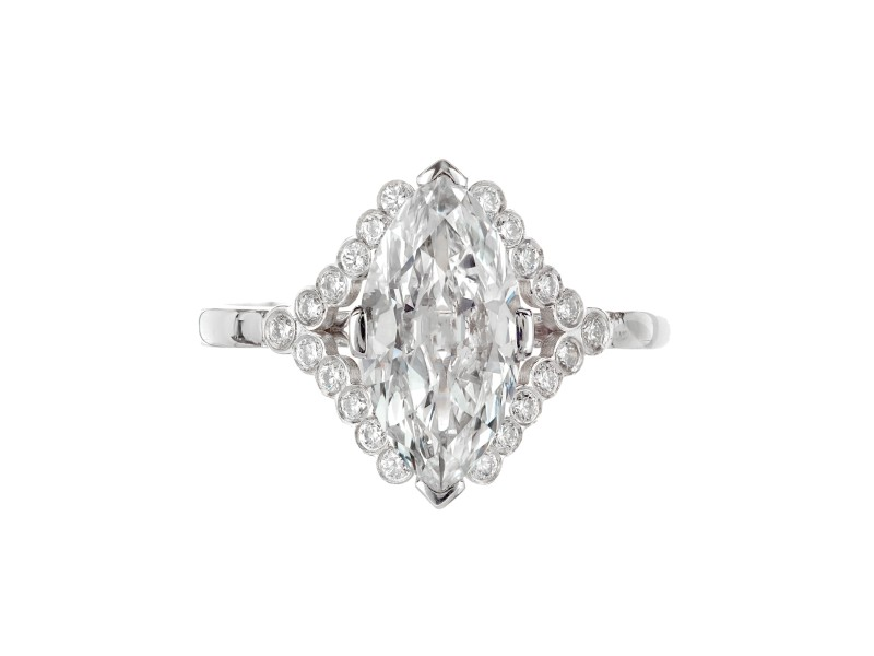 Peter Suchy 1.78 Carat Diamond Platinum GIA Certified Engagement Ring