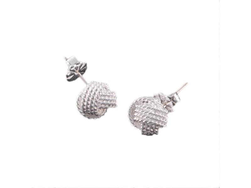 Tiffany & Co. Sterling Silver Twist Knot Earrings