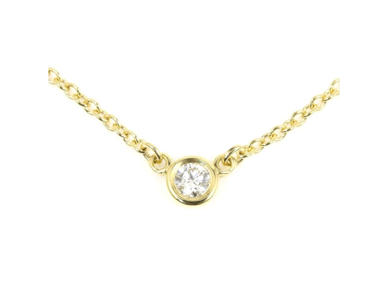 Tiffany & Co. Elsa Peretti Diamonds by the Yard 18K Yellow Gold Diamond Necklace