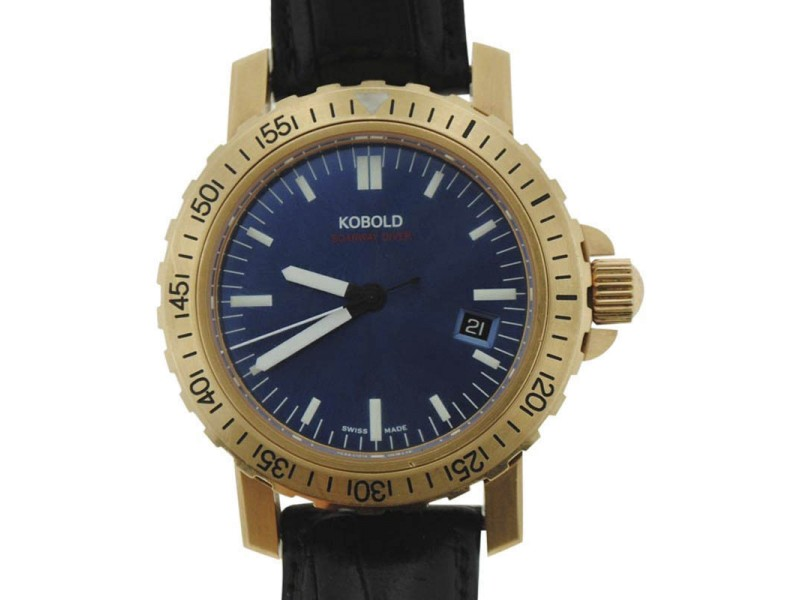 Kobold Soarway Diver KD242126 18K Yellow Gold Automatic 41mm Mens Watch