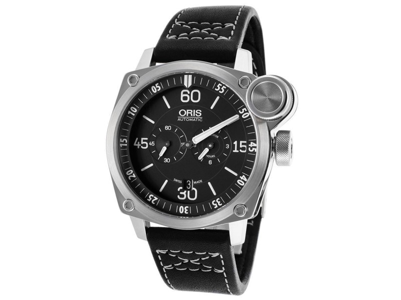 Oris BC4 Flight Timer Chronograph 749-7632-4194-LS Stainless Steel Mens Watch