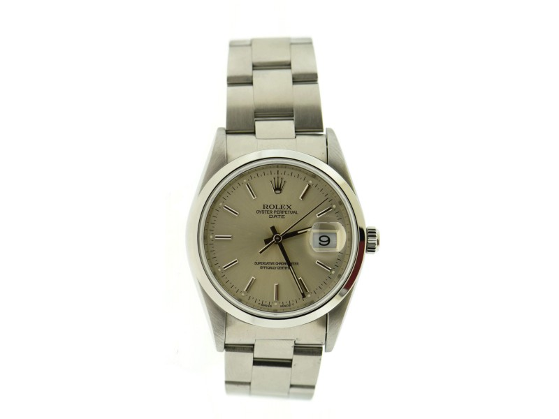 Rolex Oyster Perpetual 15200 34mm Mens Watch