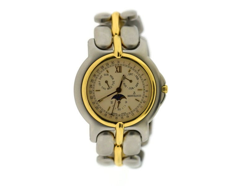 Bertolucci Pulchra Annual Calendar Two Tone Stainless Steel Watch