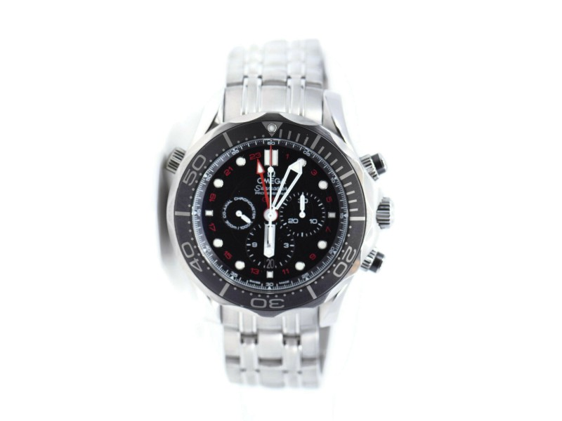 Omega Seamaster GMT Chronograph Stainless Steel Watch 212.30.44.52.01.001