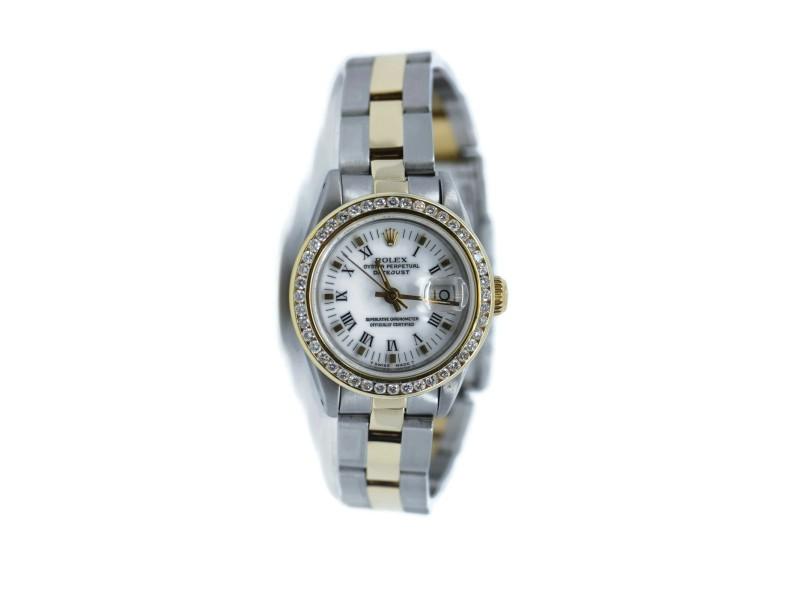 Rolex Datejust Diamond Stainless Steel Watch 69173