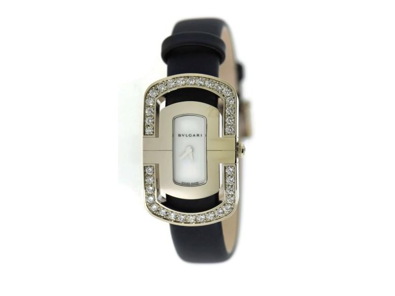 Bvlgari Parentesi Diamond 18K White Gold Watch PAW35G