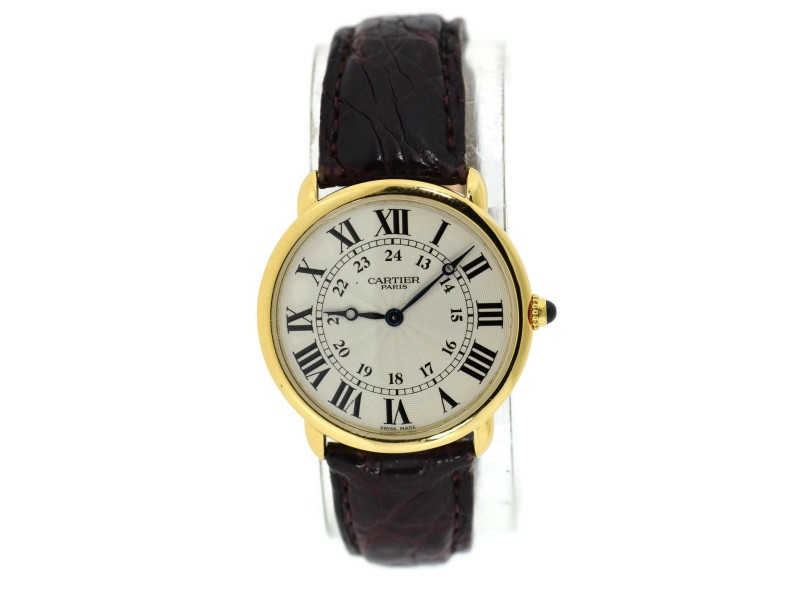 Cartier Ronde Louis Midsize 18K Yellow Gold Watch 0900
