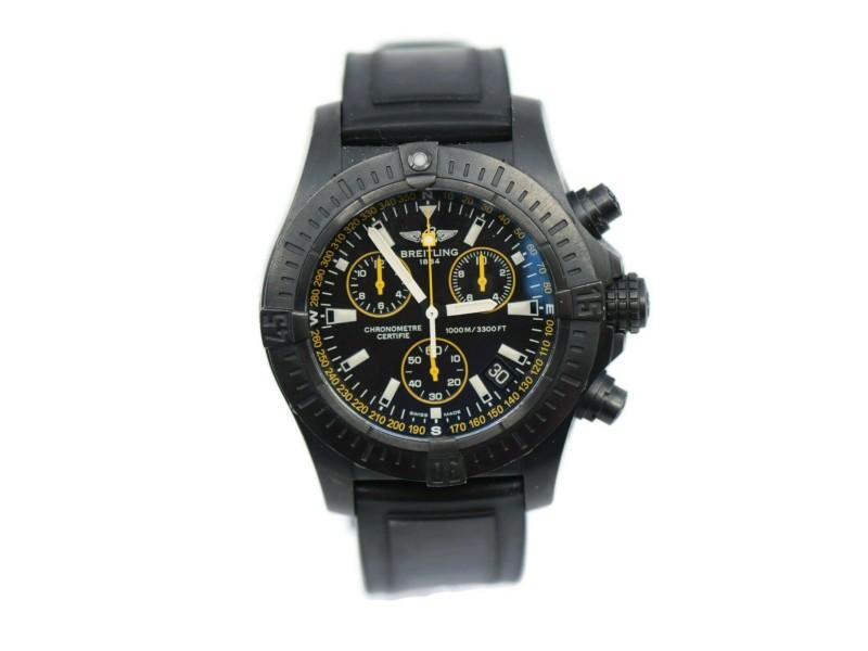 Breitling Avenger Seawolf Chronograph Blacksteel Watch M73390