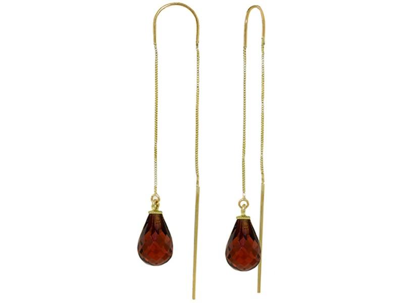 4.5 CTW 14K Solid Gold Unpredictable Journey Garnet Earrings