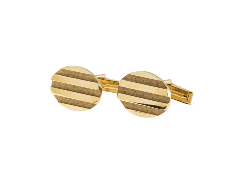 Tiffany & Co. 18K Yellow Gold Vintage Oval Cufflinks