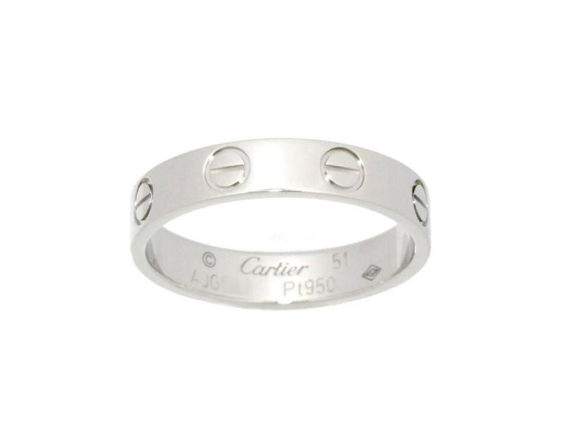 Cartier Platinum Mini Love Ring RCB-4