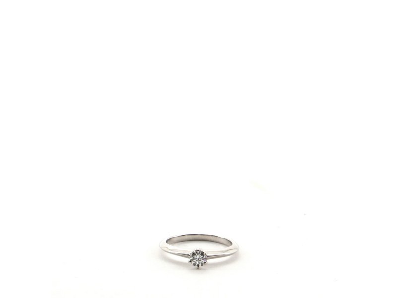 Tiffany & Co. Solitaire Ring Platinum with RBC Diamond H/VS1 .23CT