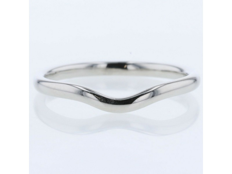 TIFFANY & Co. platinum Curved band Ring