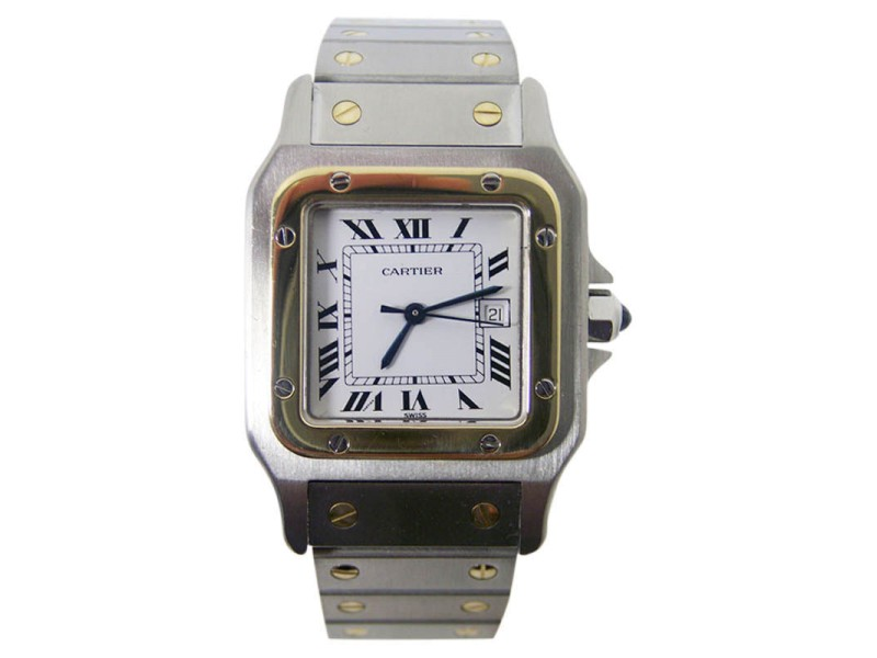 Cartier Santos Stainless Steel & 18K Yellow Gold Automatic 28.2mm Unisex Watch