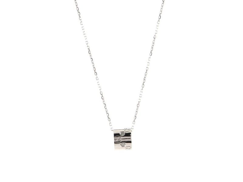 Gucci Icon Twirl Pendant Necklace 18K White Gold with Diamond