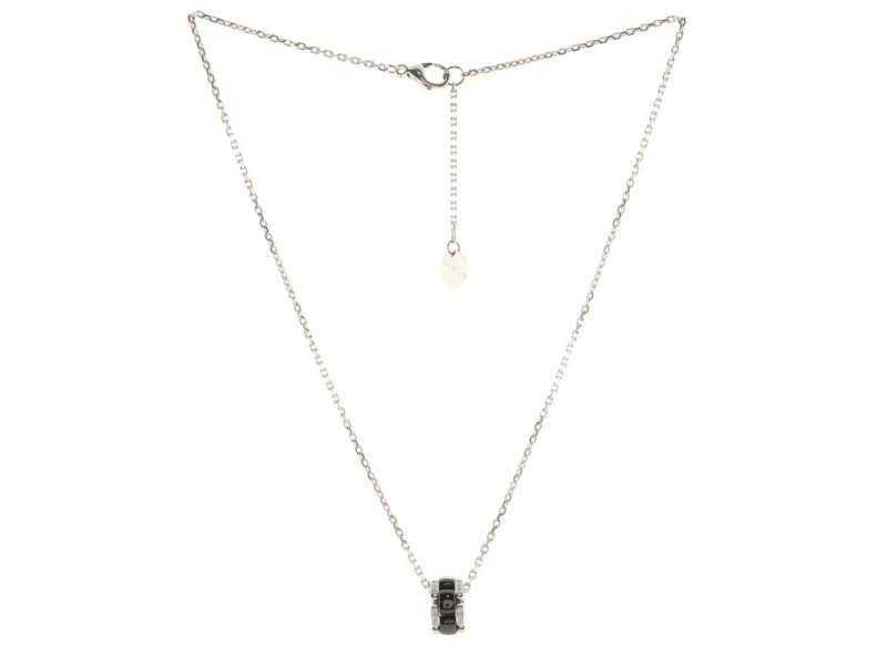 Chanel Ultra Pendant Necklace 18k White Gold with Diamonds and Hematite