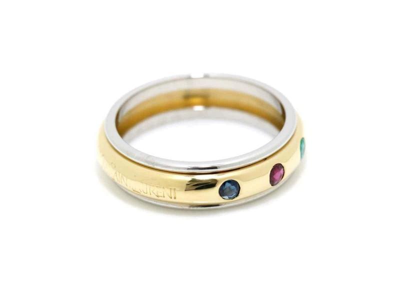Yves Saint Laurent 18K yellow,White Gold Ring