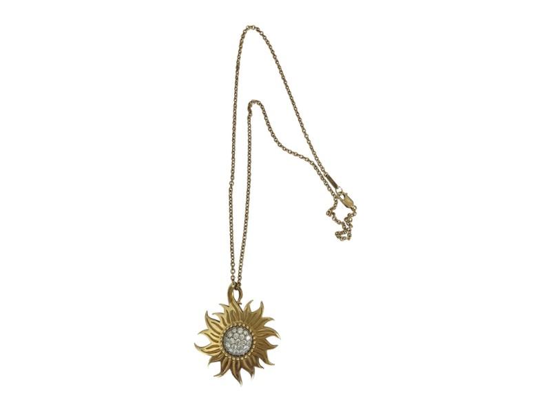 Carrera Y Carrera Sol Y Sombra 18K Yellow Gold with 0.65ctw Diamonds Pendant Necklace