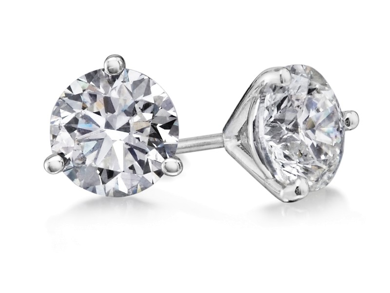 Crush & Fancy Brilliant Studs 14k White Gold Diamond 2.05ctw. Diamond Earrings