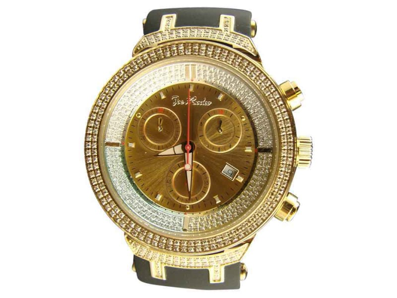 Joe Rodeo/Jojo 2.2Ct Jjm4 Master Gold Diamond Watch