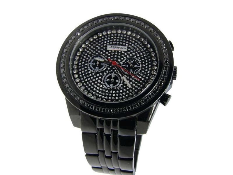 Jojo/Jojino/Joe Rodeo Black Diamond 1.75 Ct Mens Watch