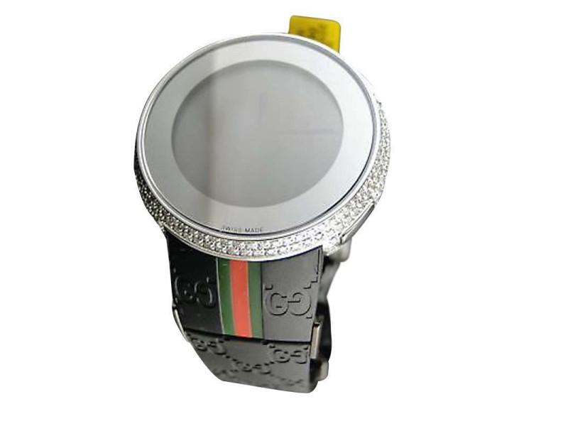 Gucci Custom White Full I Digital Diamond Watch