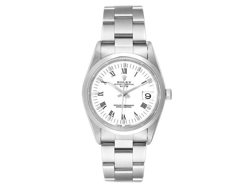 Rolex Date White Dial Oyster Bracelet Steel Mens Watch 15200