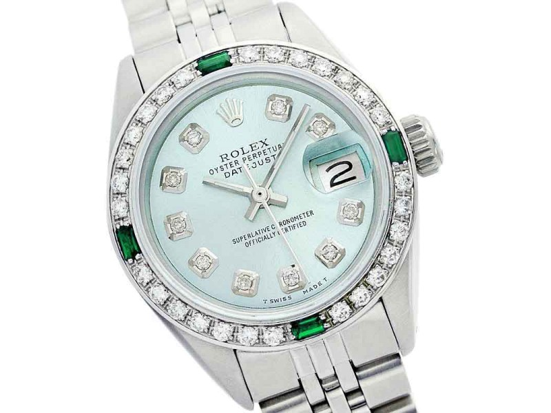Rolex Datejust Oyster Perpetual Ice Blue Diamond Watch