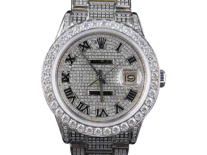 datejust rolex copy lady automatic size diamond p bezel watches watch full and gold marking