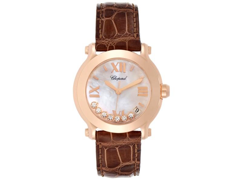 Chopard Happy Sport 7 Floating Diamond Rose Gold Ladies Watch 7471