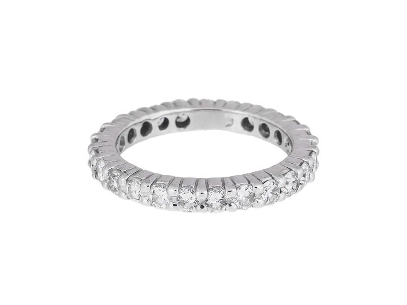 14K White Gold Diamond Band Ring