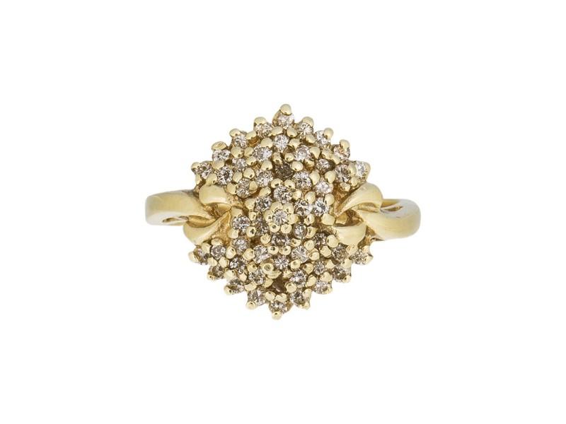 14k Yellow Gold Fancy Diamond Ring