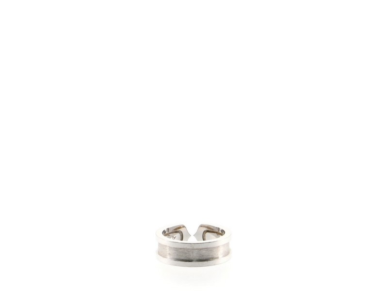 Cartier DOUBLE C Ring 18K White Gold