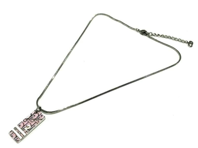 Christian Dior Silver Hardware Trotteur Necklace