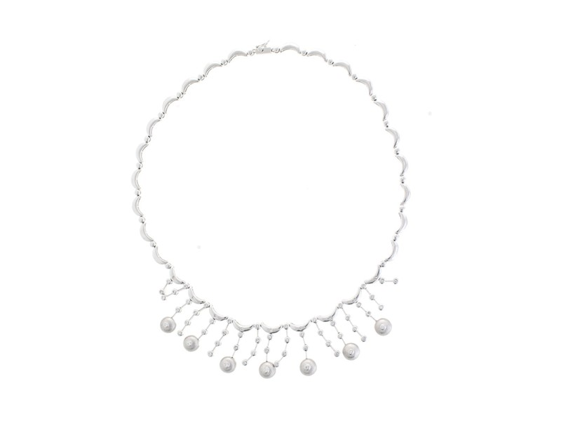 Sensual And Sophisticated 18k White Gold 0.85 Ct Diamond Necklace