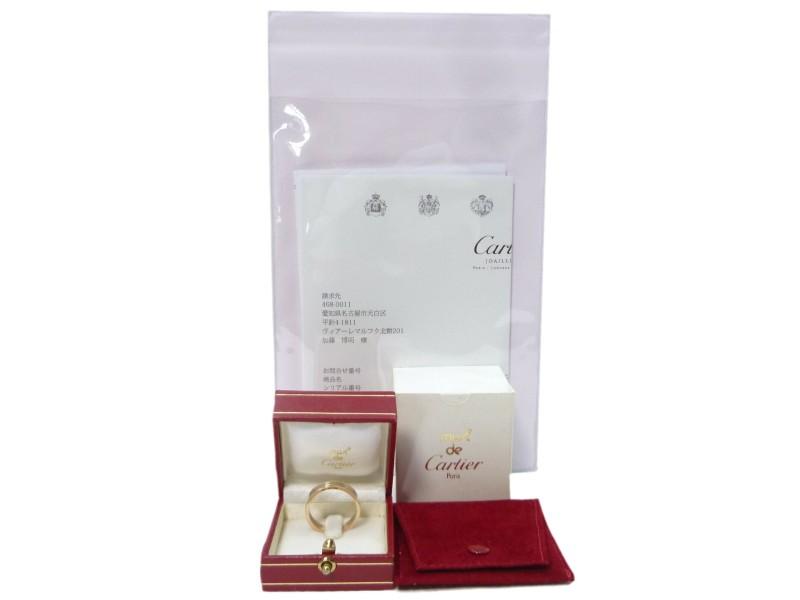 Cartier 18K Multi-Tone Gold Trinity Wedding Band Ring