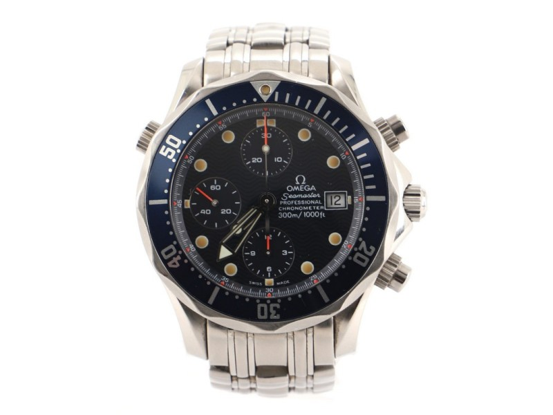 Omega Seamaster Diver 300M Chronometer Chronograph Automatic Watch Stainless Steel 41